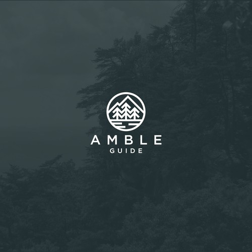 Logo concept for Amble Guide