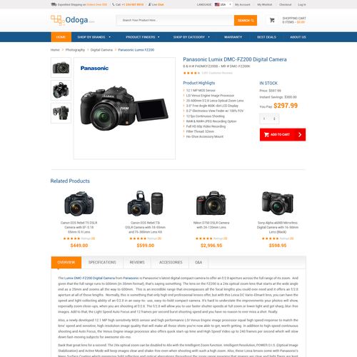 Consumer Electronics E-Commerce website desgin