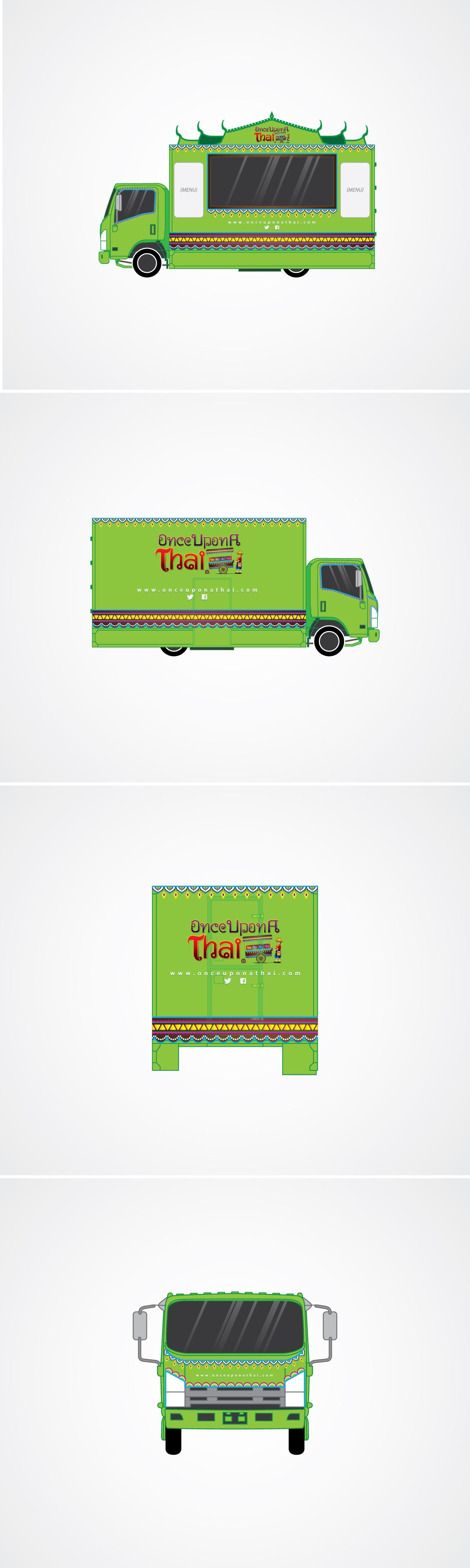 Thai food Truck wrap