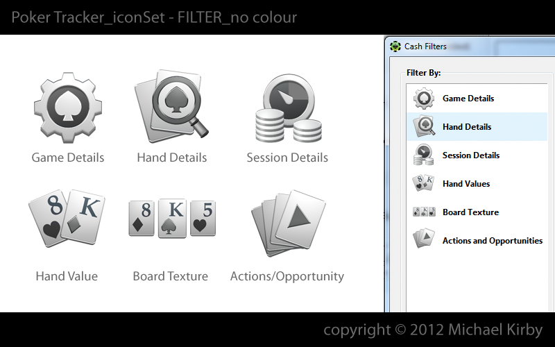 Create an icon set for PokerTracker Software, LLC