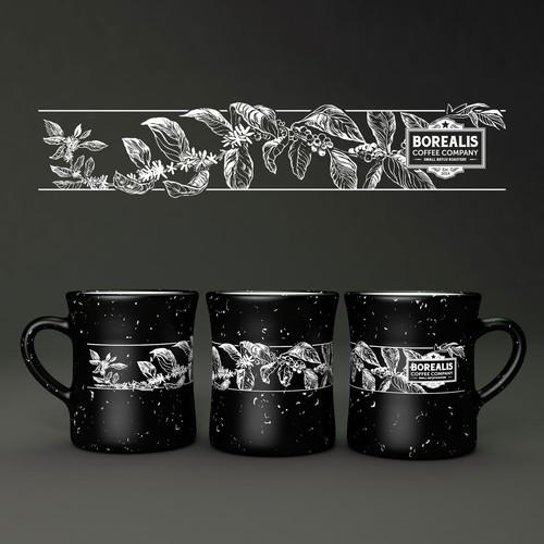 Mug wrap illustration