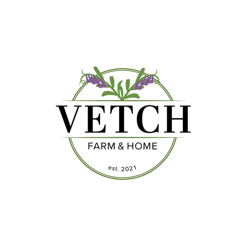 Elegant and organic logo for a farm and retail store