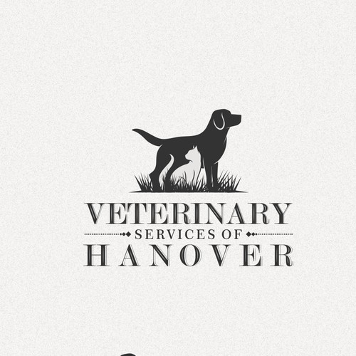 Very simple and clean design for veterinary services of hanover