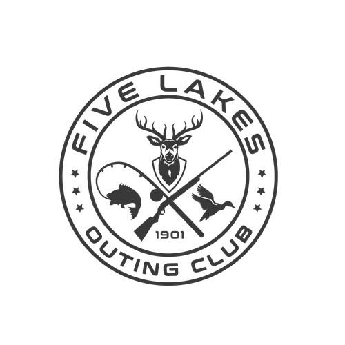 Traditional logo for hunting club