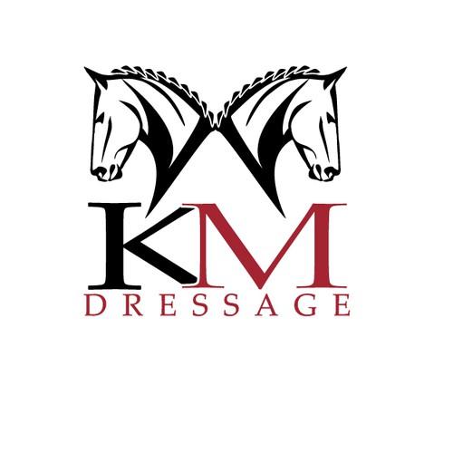 Logo concept for KM Dressage