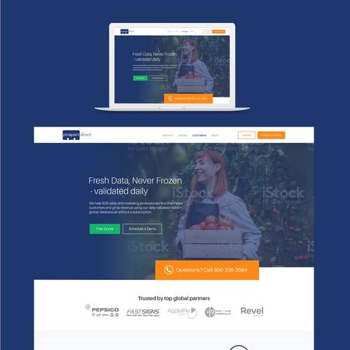 Redesign B2B website (prospectdirect.com)