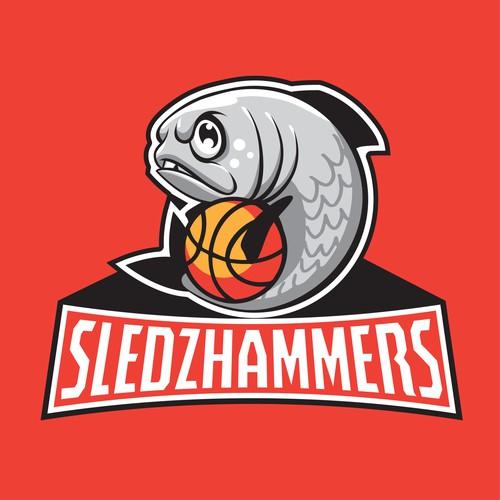 Sledz Hammers Basketball team logo