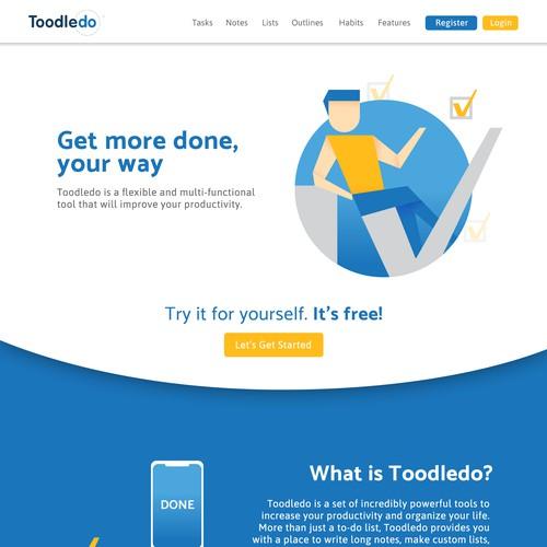 Task Organizer Website Design
