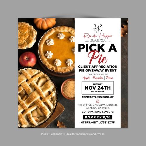 Pie Giveaway Event