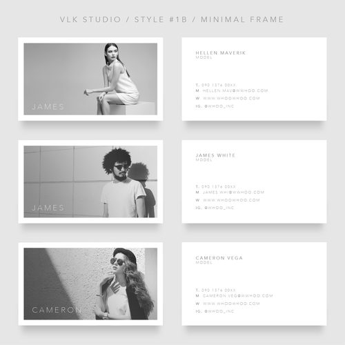 Modern Business Card for Models