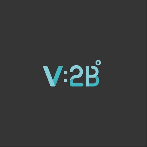 Scientific logo concept for V2B beverage company