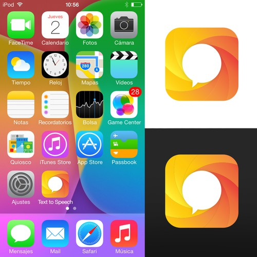 App Icon design for text to speech app
