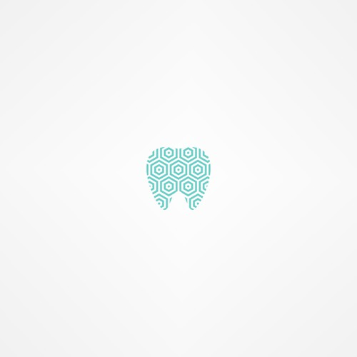 dental logo with a honeycomb or beehive pattern