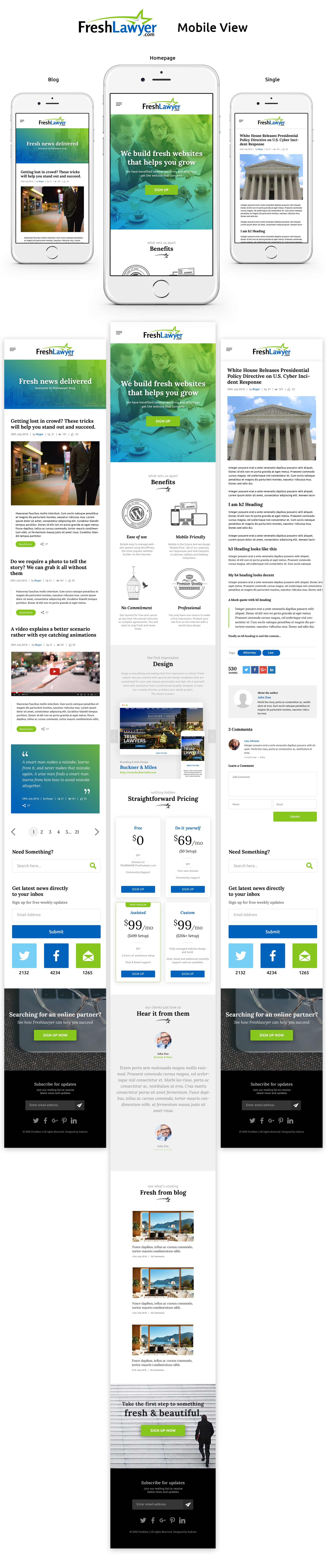 Create a stunning and fresh WordPress website for website company targeting legal industry