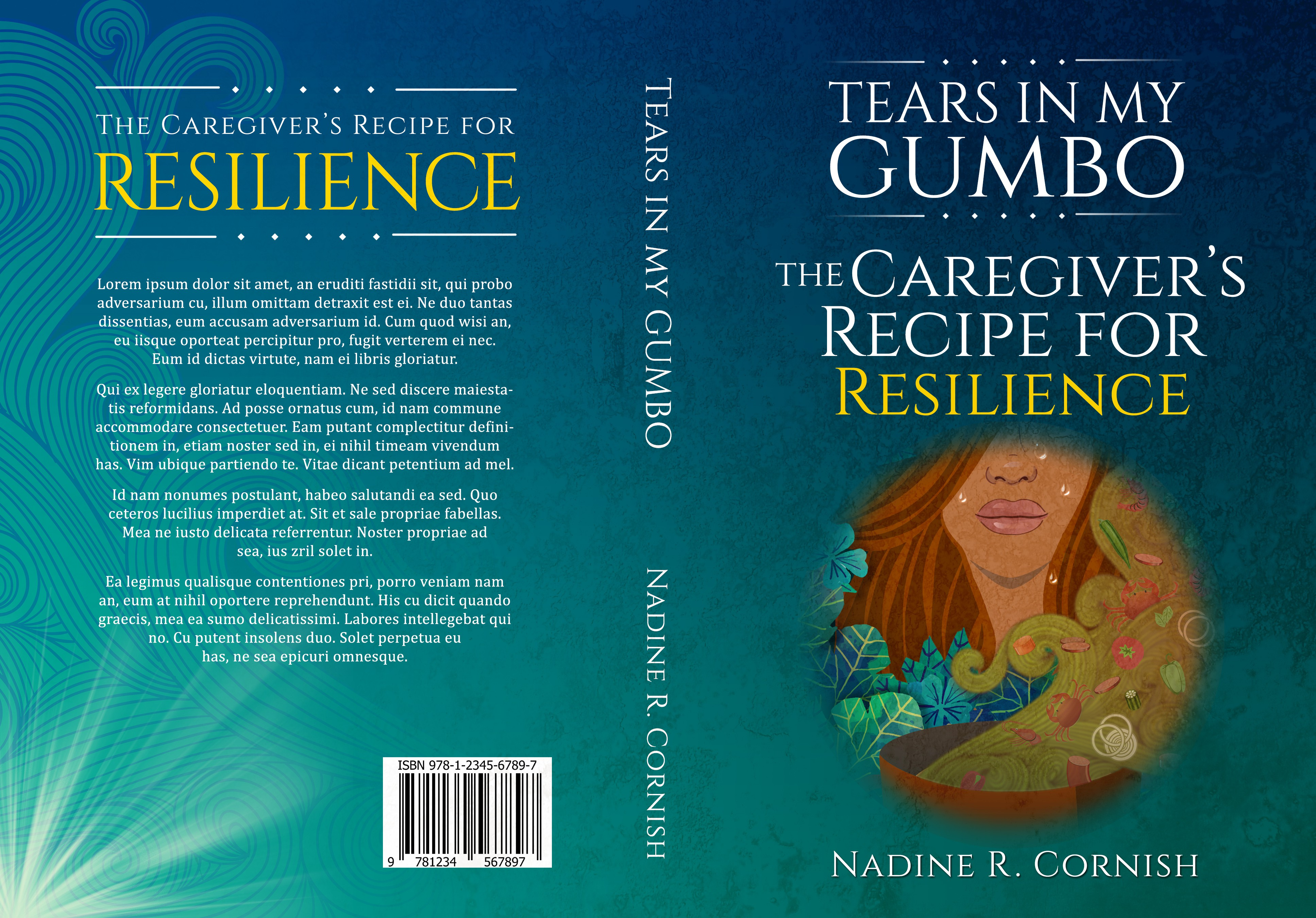 Create a captivating book cover for Tears In My Gumbo