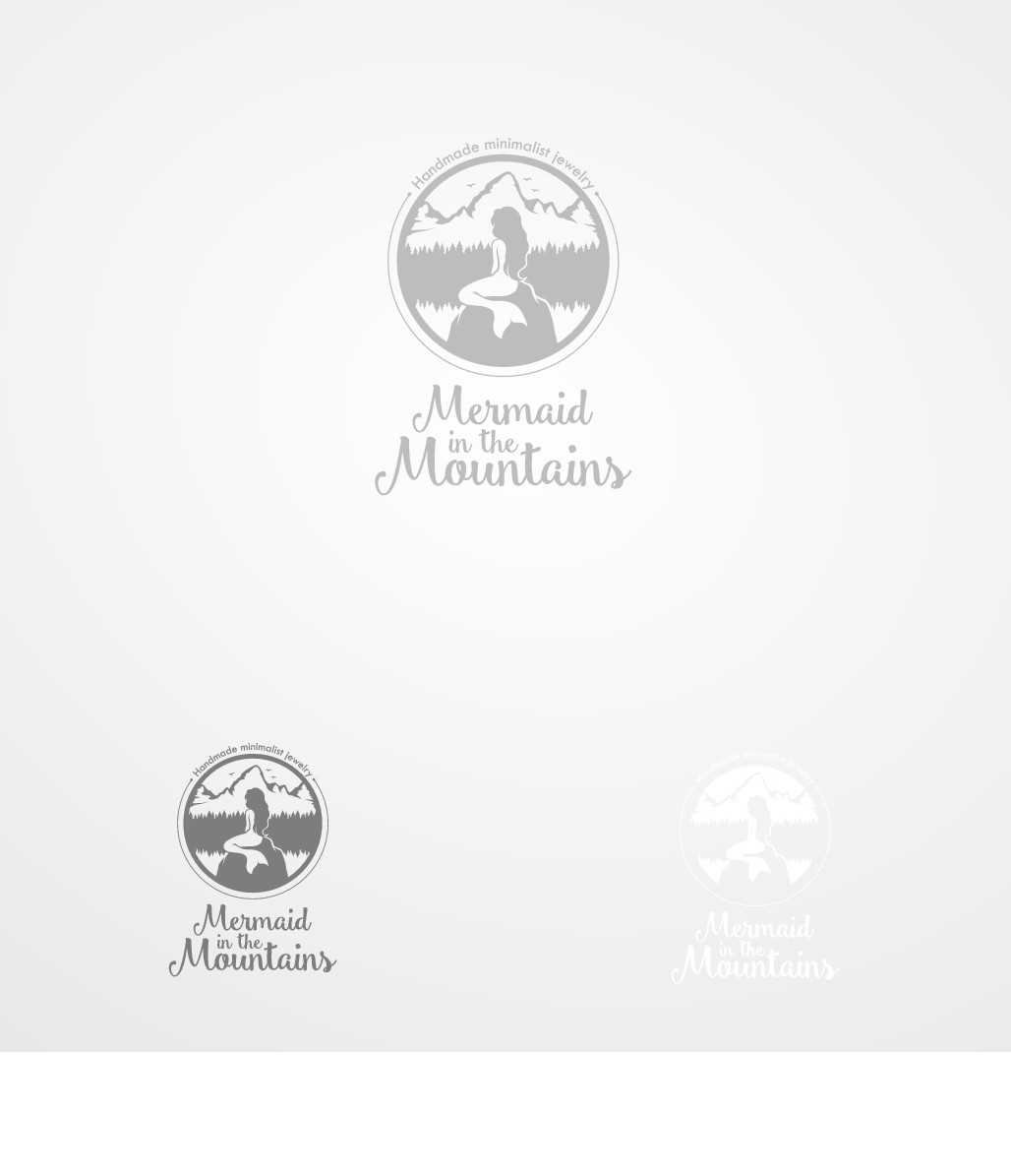 Create a vintage logo for Mermaid in the Mountains handmade jewelry