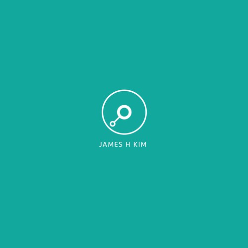 Modern and clean design for james h kim logo