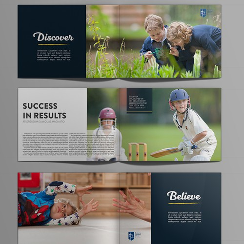 Magazine template for a Primary School