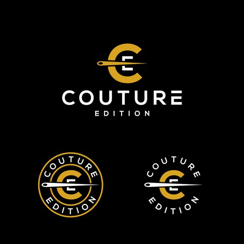 Couture Edition Circle Badge logo concept monogram