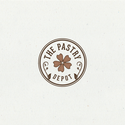 "Simple iconic logo for ""The Pastry Depot"
