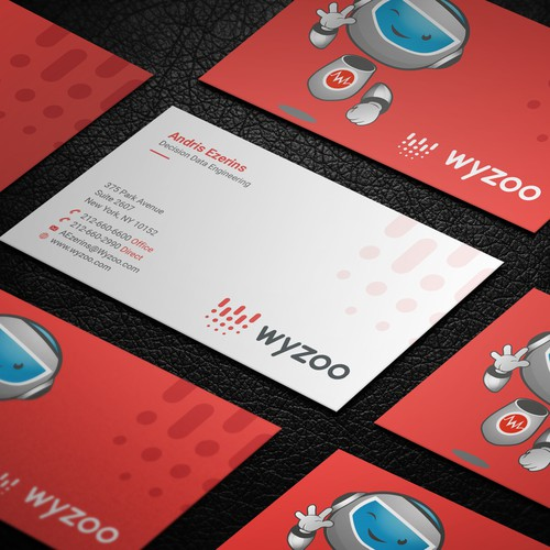 Business cards for artificial intelligence company