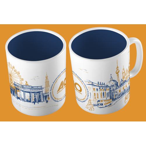 Create a mind-blowing mug design for a hostel chain