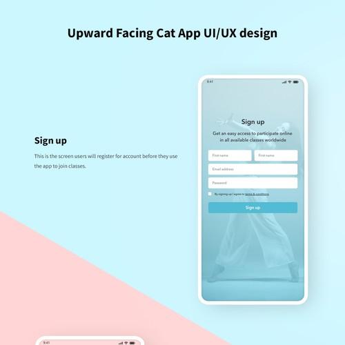 Upward Facing App UI/UX Design