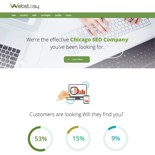 Killer SEO Landing Page for Webstasy