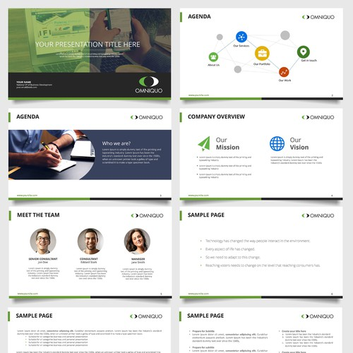 omniquo powerpoint template