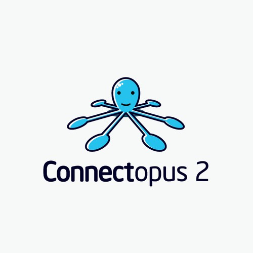 Cute Logo Design for Connectopus 2