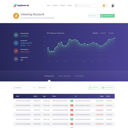 Shiny new UI for Crypto Transaction Tracker
