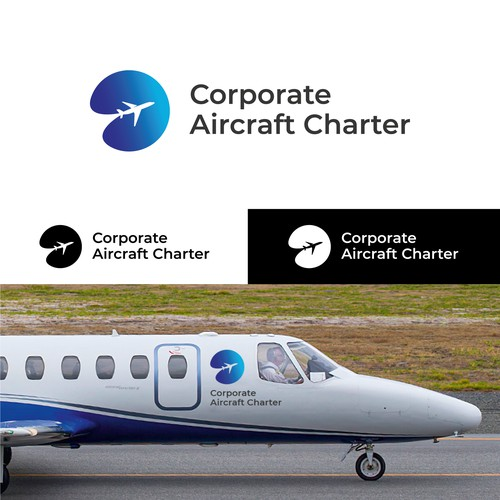 Logo for an Aircraft Charter Company