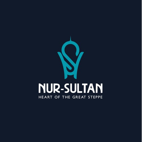 Modern logo for the capital of Kazakhstan, Nur-Sultan