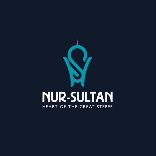 哈萨克斯坦首都的现代徽标,纽伦苏丹
