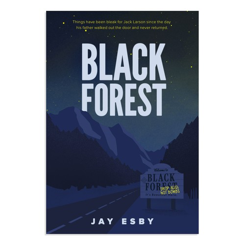 Black forest - book cover for young adult thriller
