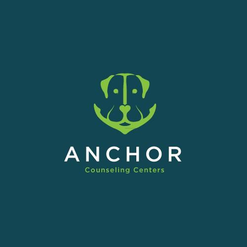 Anchor and Labrador Concept Logo for Anchor Counseling Centers