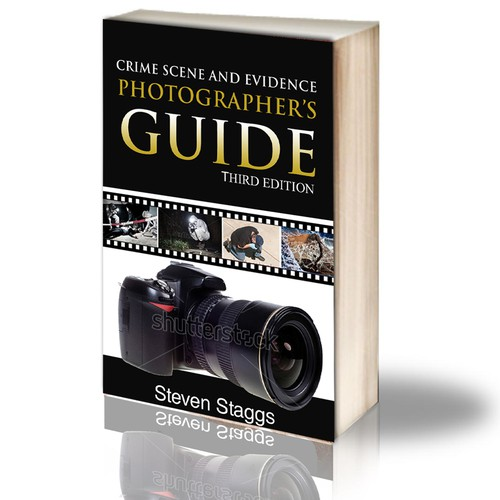 Create a book cover for a crime scene photography book