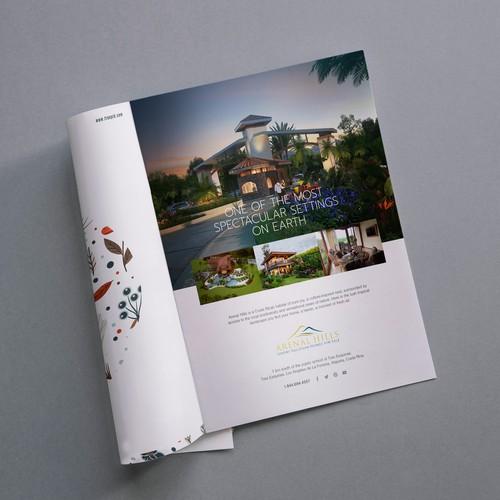 Luxury magazine full page advertisement
