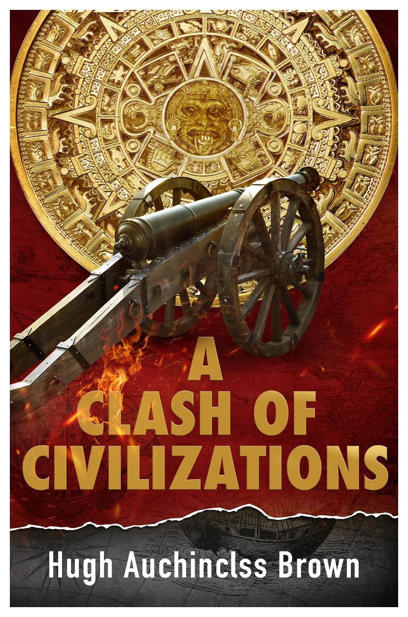 Aztec calendar and 1812 cannon for alternative history novel e-book.