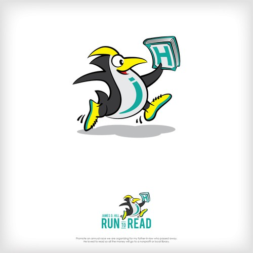 James D. Hill RUN TO READ Logo