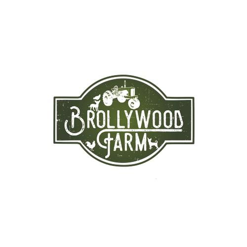 Distressed farm logo sign