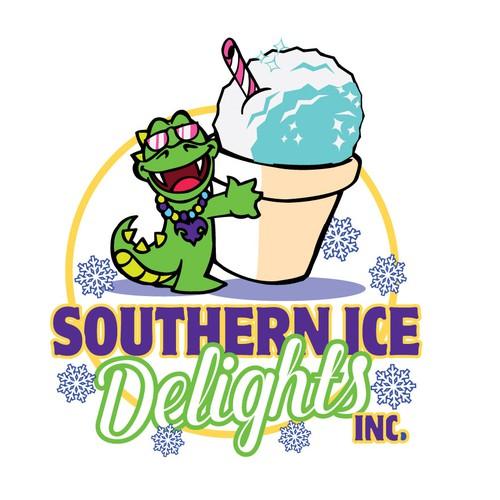 Cartoon Logo for Ice Treats