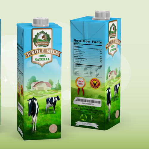 Create the Package for a New Major Milk Brand in China