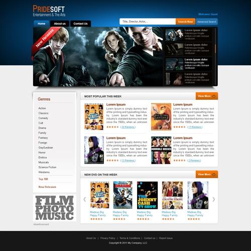 Website Design for Niche Movie Website