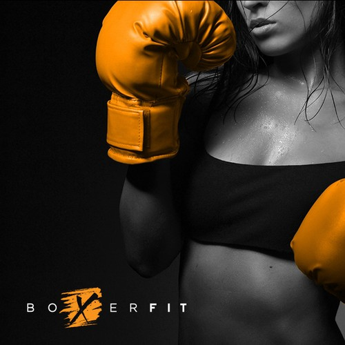 Create a boxing influenced logo for Boxerfit