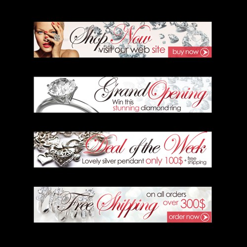 Banner ad design for jewlery store