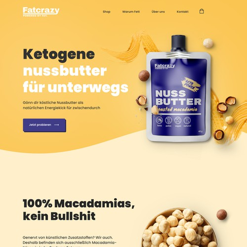 Home page design needed for food startupe design needed for food startup