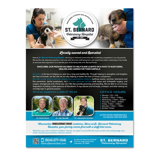 flyer for veterinary hospital