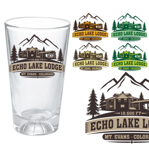 Create the next merchandise design for Echo Lake Lodge