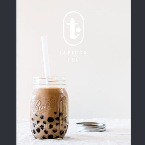 Japan based Bubble tea shop simple and stylish design
